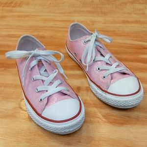 Converse All Star Shiny Pink White Sneakers
